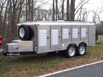 Stainless Steel Dog Trailer